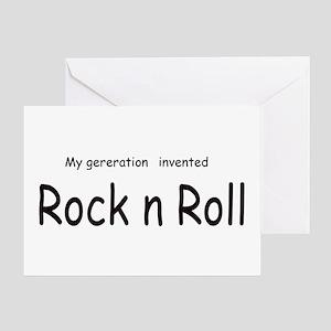 Rock n Roll Greeting Card