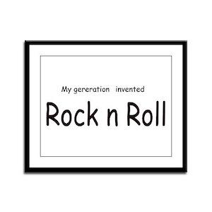 Rock n Roll Framed Panel Print