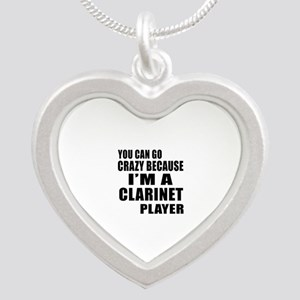 You Can Go Crazy Because I A Silver Heart Necklace