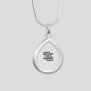 You Can Go Crazy Because Silver Teardrop Necklace
