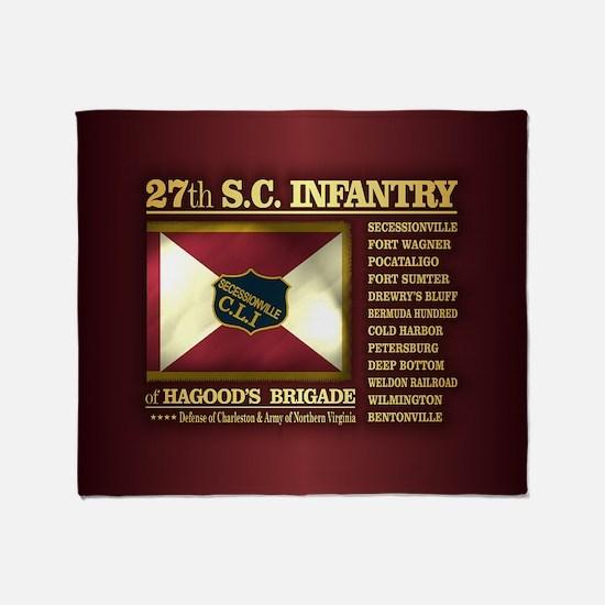 27th SC Infantry Throw Blanket