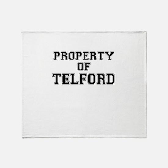 Property of TELFORD Throw Blanket