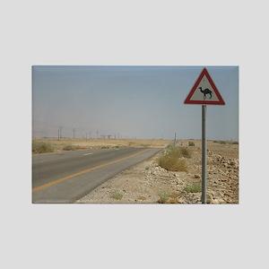 camel crossing Rectangle Magnet