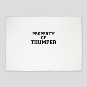 Property of THUMPER 5'x7'Area Rug