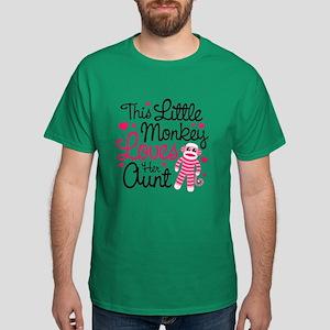 Monkey Loves Aunt Dark T-Shirt
