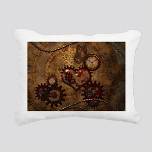 Steampunk, noble design with heart Rectangular Can