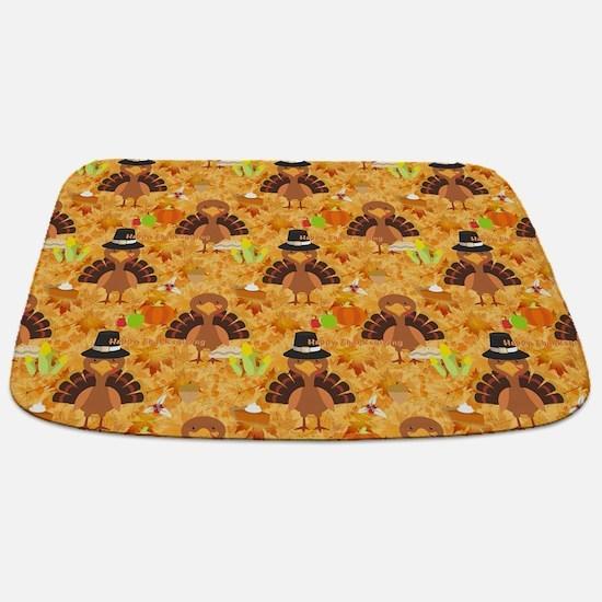 Funny Happy thanksgiving Bathmat