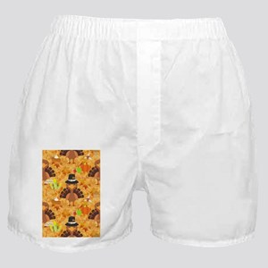 happy thanksgiving turkey Boxer Shorts