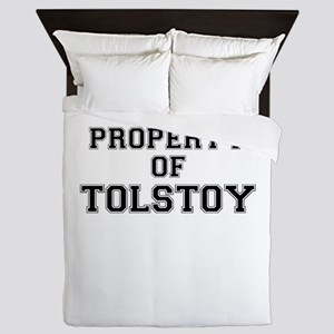 Property of TOLSTOY Queen Duvet