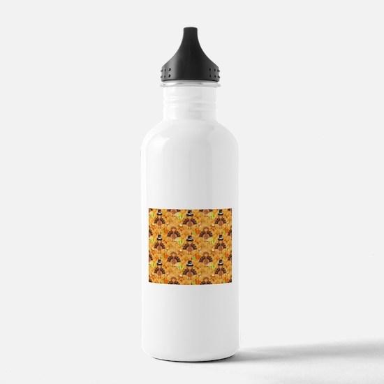 happy thanksgiving tur Water Bottle