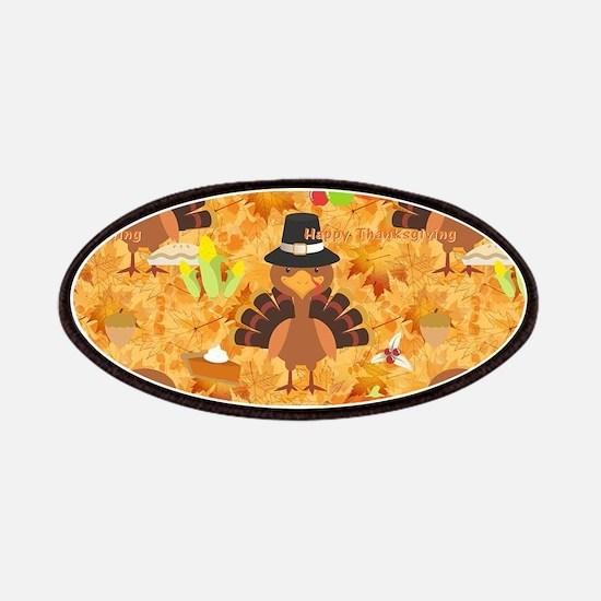 happy thanksgiving turkey Patch
