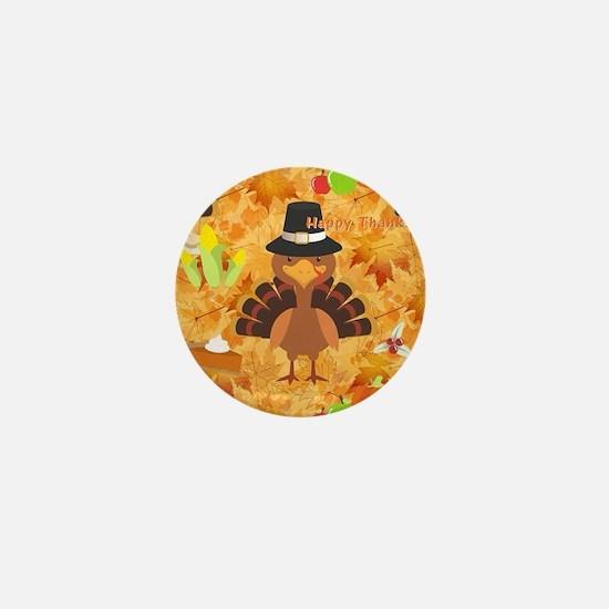 happy thanksgiving turkey Mini Button (100 pack)
