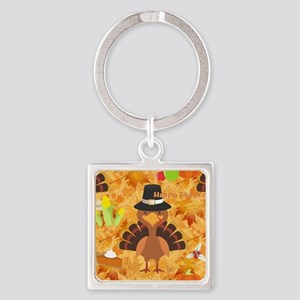 happy thanksgiving turkey Keychains