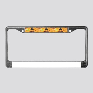 happy thanksgiving turkey License Plate Frame