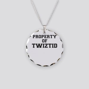 Property of TWIZTID Necklace Circle Charm