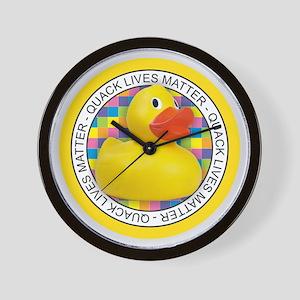 Quack Lives Matter Wall Clock