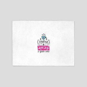 Coffee Is Amazing! 5'x7'Area Rug
