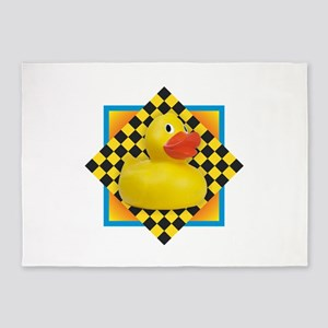 Rubber Duck 5'x7'Area Rug