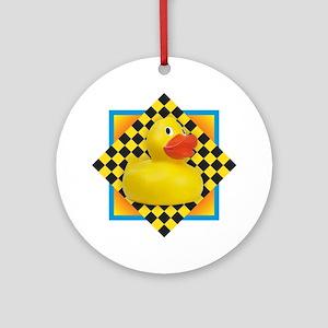 Rubber Duck Round Ornament