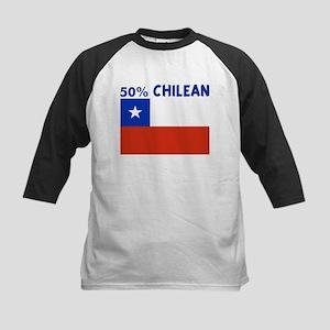 50 PERCENT CHILEAN Kids Baseball Jersey