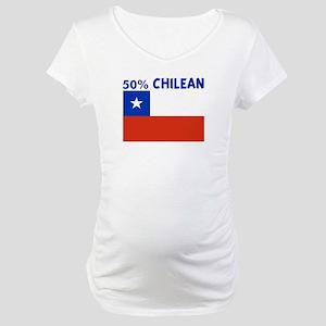 50 PERCENT CHILEAN Maternity T-Shirt
