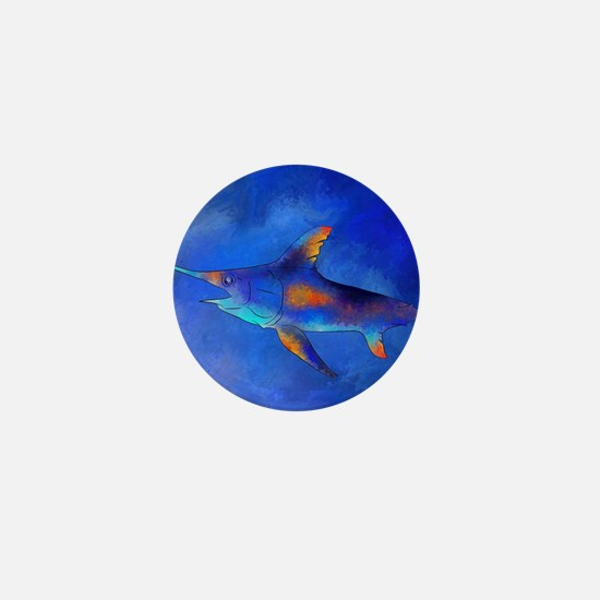 Unique Swordfish Mini Button