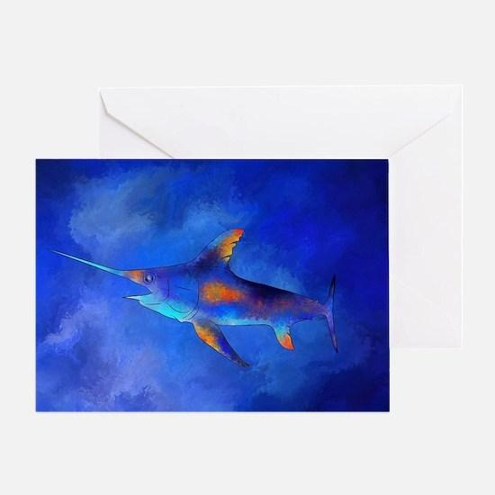 Unique Swordfish Greeting Card