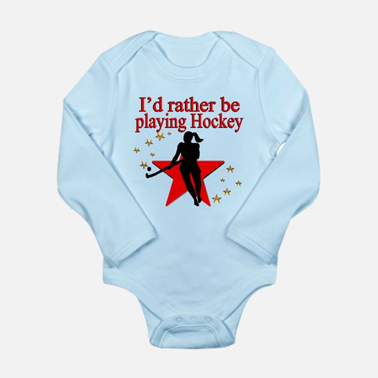 HOCKEY GIRL Long Sleeve Infant Bodysuit