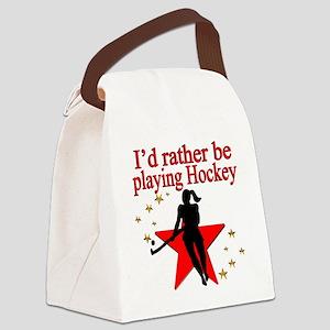 HOCKEY GIRL Canvas Lunch Bag