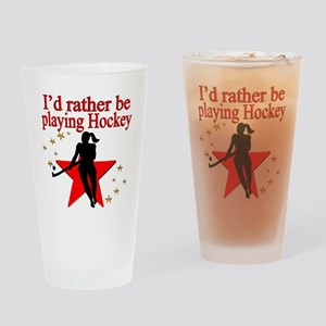 HOCKEY GIRL Drinking Glass