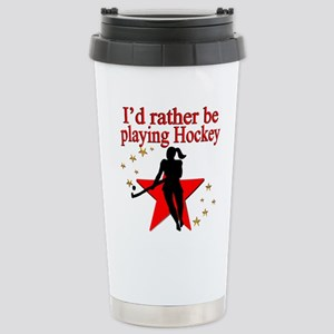 HOCKEY GIRL Stainless Steel Travel Mug