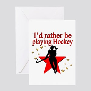 HOCKEY GIRL Greeting Card