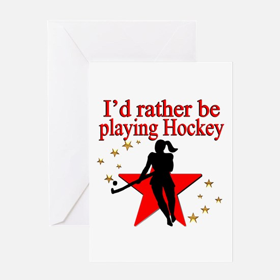 HOCKEY GIRL Greeting Card