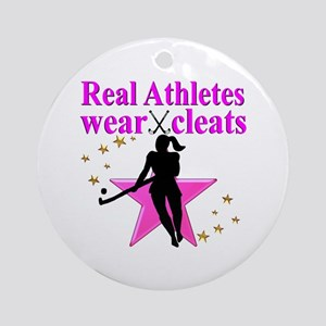 HOCKEY GIRL Round Ornament