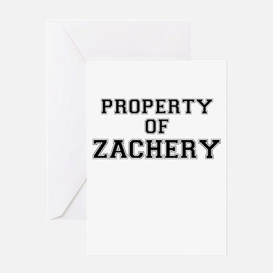 Property of ZACHERY Greeting Cards