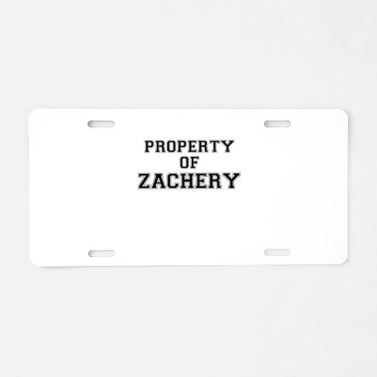Property of ZACHERY Aluminum License Plate