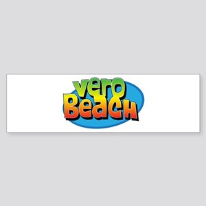 Vero Beach Florida Cartoon Souvenir Sticker (Bumpe
