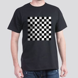 Black and White Checkered Pattern T-Shirt