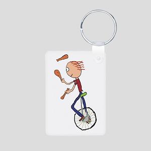 Unicycle Juggler Keychains
