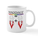 MARRIAGE EQUALS HEART PLUS HE Mug