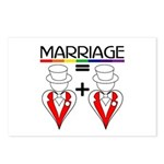 MARRIAGE EQUALS HEART PLUS HE Postcards (Package o