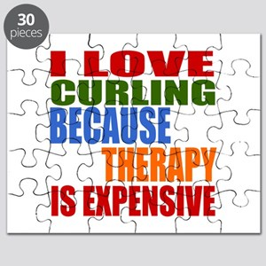I Love Curling Because Therapy Is Expensive Puzzle