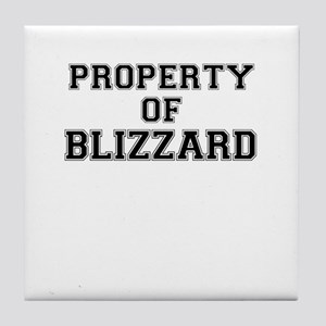 Property of BLIZZARD Tile Coaster