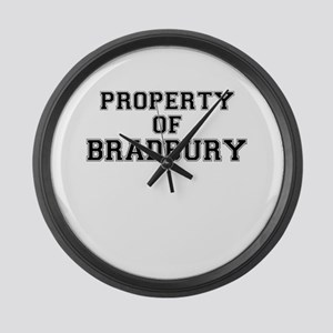 Property of BRADBURY Large Wall Clock