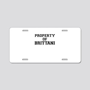 Property of BRITTANI Aluminum License Plate