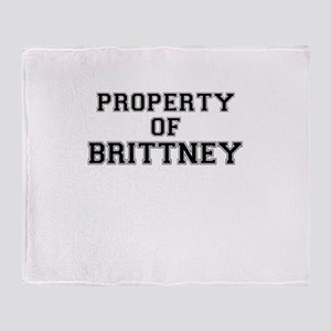 Property of BRITTNEY Throw Blanket