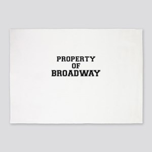 Property of BROADWAY 5'x7'Area Rug