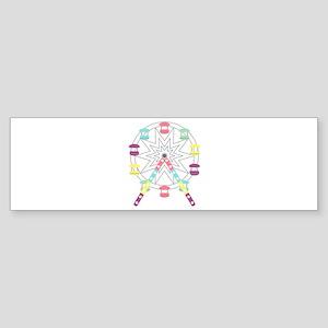 Ferris Wheel Bumper Sticker