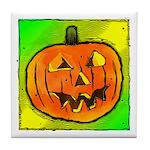 Halloween Pumpkin Tile Coaster