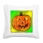 Halloween Pumpkin Square Canvas Pillow